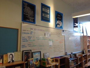 "we need a better ""book wait list"" system. (notice my nerdfighter posters? DFTBA, y'all!)"