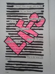 black out poem Life