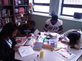 Students creating their Writer's Notebooks in ways that feel most authentic.