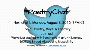 Poetry Chat August 3