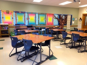 The classroom is ready for our first day of school!