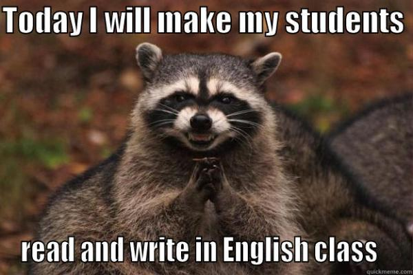 read and write in english class