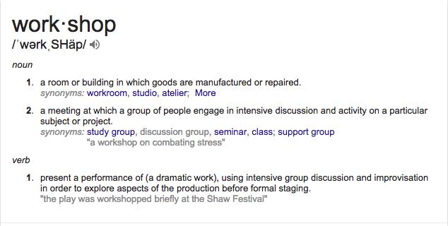 workshop definition