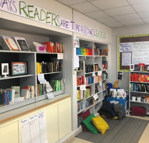The classroom library is always evolving to meet the current needs of my students.