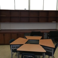 My shelves when I first saw my current classroom