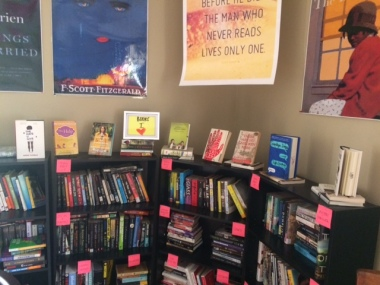 I use my classroom library to highlight books by genre, theme, etc. to grab students' attention.