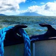 The island of Ometepe in Lake Nicaragua