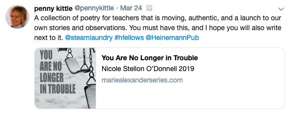 Penny Kittle tweet