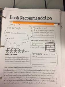 Book Recommendation Sheet